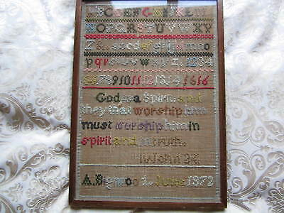 An old Victorian sampler