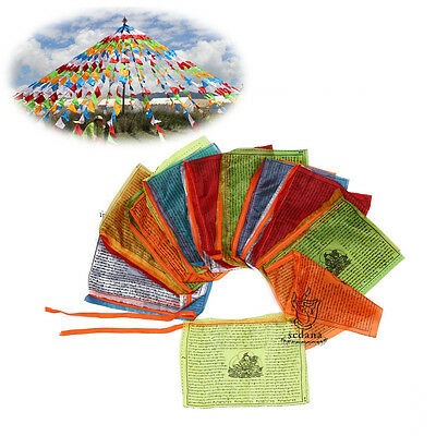 204 Inch Long Tibet Buddhist Prayer Flags Drolma Goddess & Tara Scriptures Flag