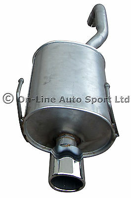 Fiat 500 1.4  Exhaust Rear Back Box - Chrome Oval Tail - Also suits NON Sport
