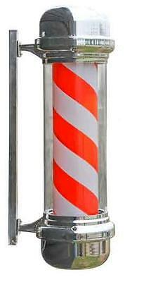 Rotating Traditional Barbers pole Illuminated 710mm salon equipment NEW BOXED