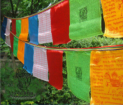 Brocade Buddhism Prayer Flag 212 Inch Long Buddhist LongDa Scriptures Flag
