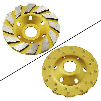 """Ocr TM 4"""" Concrete Turbo Diamond Grinding Cup Wheel for Angle Grinder 12 Segs..."""