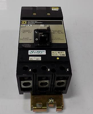 Square D 125A 480V 3P Circuit Breaker Kc34125