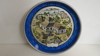 Pabst Blue ribbon collectors serving tray village picture.