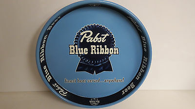 Pabst Blue Ribbon Blue background serving tray ribbon and bark blue edge