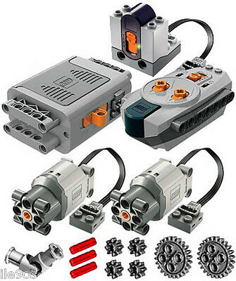 Lego Power Functions SET 4  (technic,motor,receiver,remote,joint,gear,large,l)