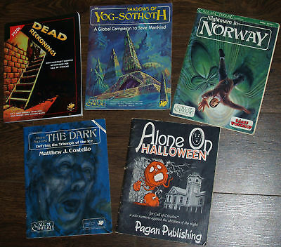 Call of Cthulhu RPG book Adventure Scenario - Chaosium solo VGC   Select one