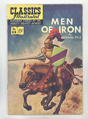 Classics Illustrated #88 HRN 89 (Original) FN Men of Iron by Howard Pyle