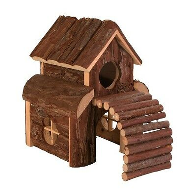 NEW Trixie Natural Wooden Finn House Gerbil Dwarf Hamster Mice Mouse Home 6203