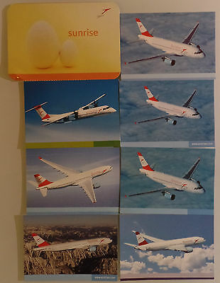 AIRLINE ISSUED POSTCARDS : SET 8x  AUSTRIAN