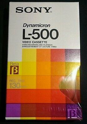 SONY L - 500 Betamax Dynamicron video tape