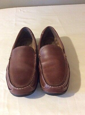 Dockers Men's Brown Leather Slip On Loafers Sz 11 M