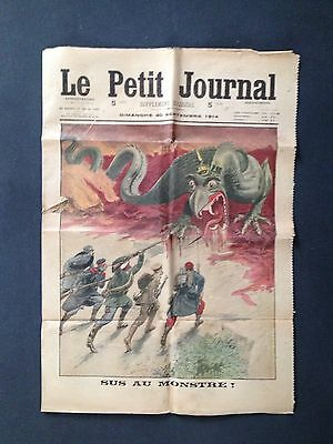 Guerre 14-18 Le Petit Journal 20 septembre 1914 Belle illustration