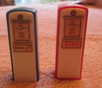 Esso Gas Pump Salt And Pepper Shakers