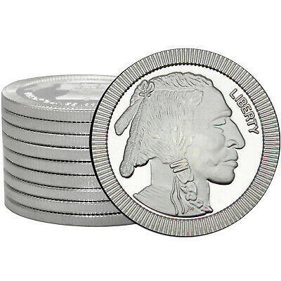 SilverTowne Buffalo Stackables 1oz .999 Silver Medallion (10pc)