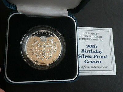 Great Britain 1990 Silver Proof £5.00 Pound. Case & Certificate