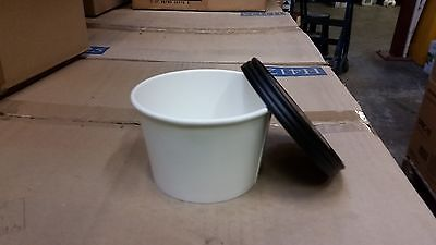 250 x 12oz Food/Soup Containers Combi Pack Lid & Base Takeaway/Catering