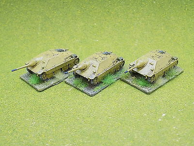 15mm WW2 HUNGARIAN HETZER TANKS x3 painted Flames of War 38584