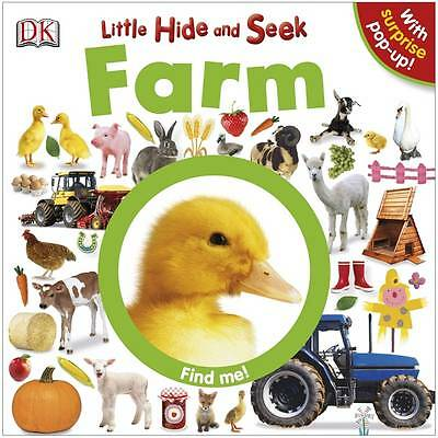Little Hide and Seek Farm by DK (Board book and Pop up) New