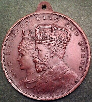 A Superb 40mm Bronze Medal Issued For The 1911 Coronation Of King George V.