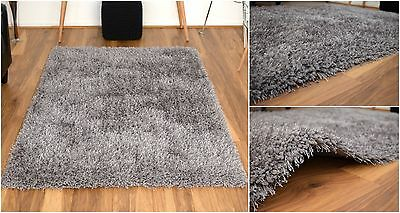 Grey X Large Luxury Shaggy Area Rug Soft Carpet 5cm Thick Pile Rugs Modern Mats