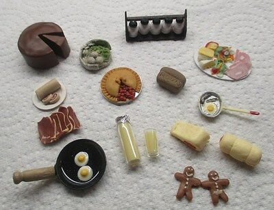 Job Lot / Collection Assorted  Food Items for Dolls House Inc.Gingerbread Men