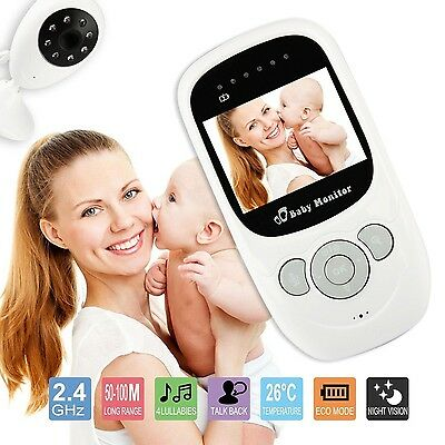 ,Wireless 2.4GHz Digital Color LCD Baby Monitor Camera Night Vision Audio Video