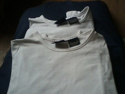 Women's Route 66 stretch shirts - size large, white -- lot of 2