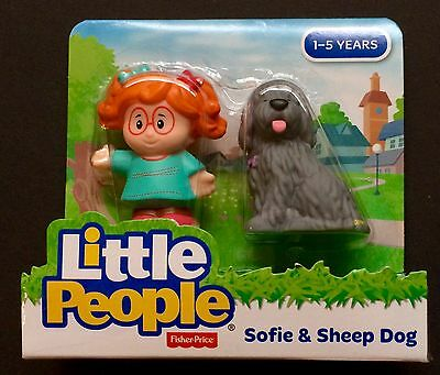 Fisher Price Little People Sofie and Sheep Dog New