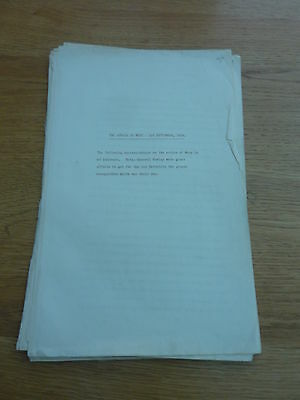 Ww1 1921 Typed Report 1 Middlesex Rgt Affair At Nery 1914  Brig Gen F G M Rowley