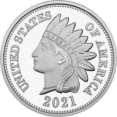 2018 Indian Head Cent 1oz .999 Silver Medallion