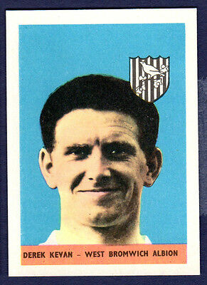 A&BC 1958 Footballers (Without Planet) - No.25, Derek Kevan, West Brom
