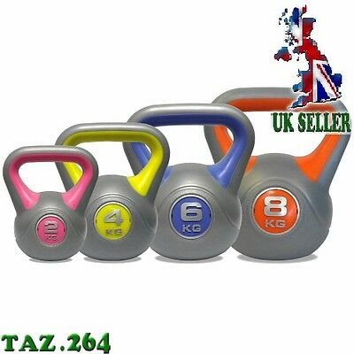 4 Set - Kettlebell Weights - Home Exercise Fitness Functional Strength Workout
