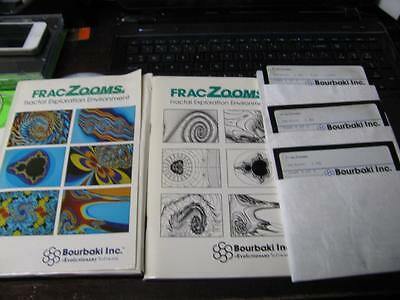 VINTAGE FRACZOOMS FRACTAL EXPLORATION SOFTWARE VERSION 1.03 for IBM PC 5.25""