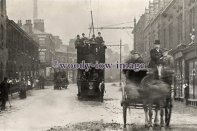 a0641 - SHMD Joint Tramways Tram no 47 to Mottram in floods - photograph