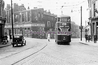 a0655 - Liverpool Tram no 951 to Lower Lane  - photograph