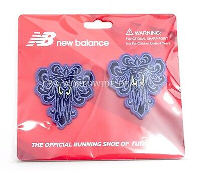 NEW Run Disney 2017 New Balance Haunted Mansion Wallpaper Shoelace Clip-Ons
