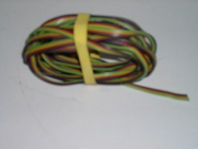American Flyer 4-strand accessory wire,  color coded, 12 foot long