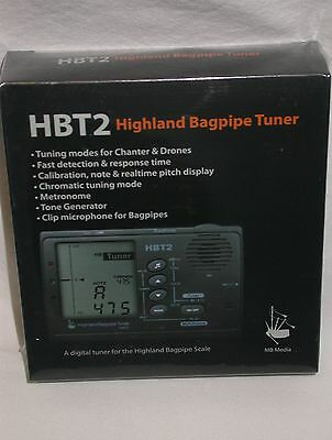 New HBT2 Highland Bagpipe Tuner by Murray Blair
