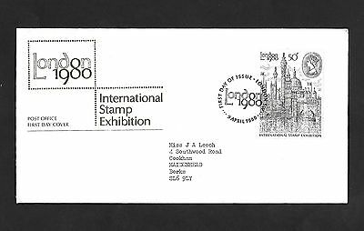 GB FDC 09/04/1980 London 1980 with London SW FDI SHS