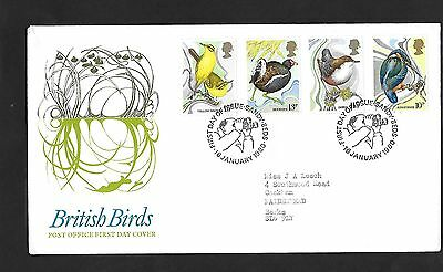 GB FDC 16/01/1980 British Birds with Sandy FDI SHS