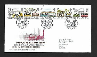 GB FDC 11/11/1980 First Mail by Rail with Manchester SHS