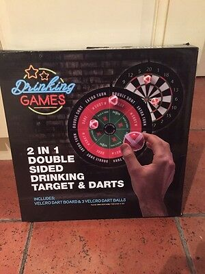 2 In 1 Drinking And Darts Board Game New