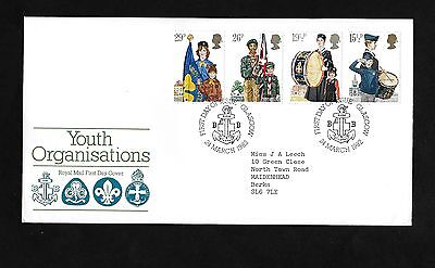 GB FDC 24/03/1982 Youth Organisations with Glasgow FDI SHS