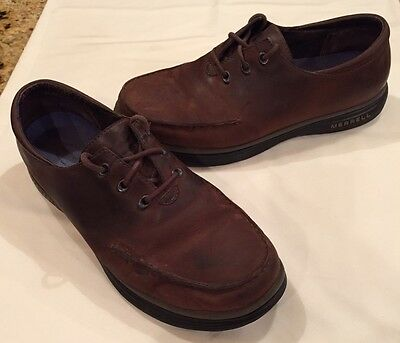 Merrell Topo Rim Dark Brown Leather Lace Up Loafers Oxfords Men's Size 10 M