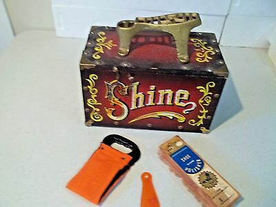 Vintage Shoe Shine Box 5 Cents