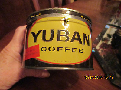 Vintage Yuban Metal Coffee can 1940-50s with lid