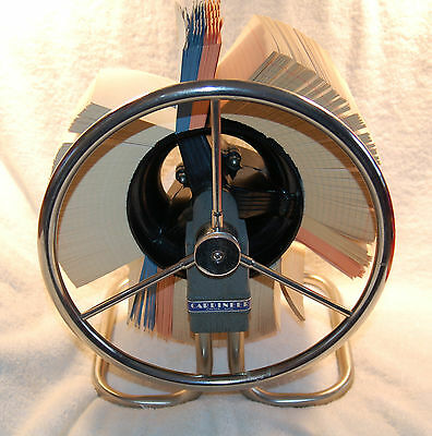 Vintage Diebold Cardineer Rotary File Canton Ohio with Cards Deco