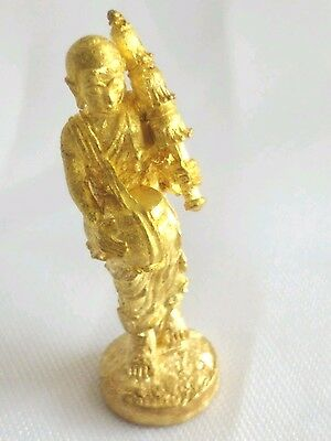 Phra Sivali statue Brass Rich Wealth Fortune Overcome obstacles Thai Amulet
