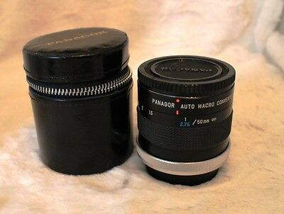 Canon C/FD Panagor Auto MACRO Converter 1:1 for Life-Size Close-Up Photography